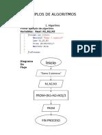 Ejemplos de Algoritmos