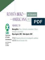 Aspectos eticos de la investiga - Gonzalez Avila, Manuel;