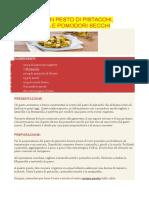 Rigatoni Con Pesto Di Pistacchi
