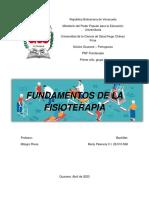 Monografia, Fundamentos de la Fisioterapia. Marly Palencia