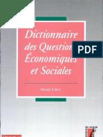 Dictionnaire des questions économiques et sociales Par Denis Clerc