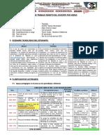 Informe Planificador de Trabajo Pedagógico Domiciliario Del Docente.