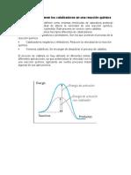 14.- Qué Funciones  tienen los catalizadores en una reacción química