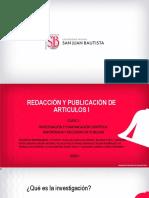CLASE 1-IMPORTANCIA Y NECESIDAD DE PUBLICAR
