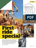 Tests mountain bike Janvier 2011