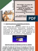 2.4. IDENTIFICACION D EL MATERIALES DEL SERMONpptx