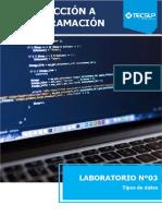 Laboratorio 03 Tipos de datos