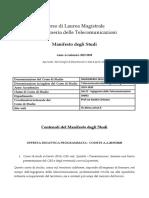 LM INGEGNERIA TELECOMUNICAZIONI 19-20
