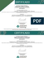 Se Otorga El Presente Certificado a (1)