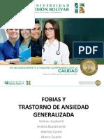 FOBIAS Y TRASTORNO DE ANSIEDAD GENERALIZADA