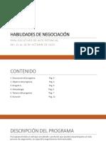 Programa de Habilidades de Negociación