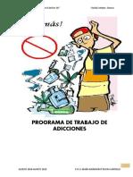 PROGRAMA DE TRABAJO DE ADICCIONES
