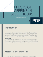 Effects of caffein in our sleep