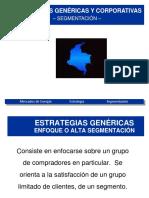 7  Estrategias genéricas y corporativas -  segmentación