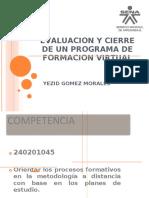 CIERRE DE UN PROGRAMA DE FORMACION VIRTUAL SEMANA 4