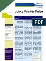 Quocirca Printer Pulse December 2010