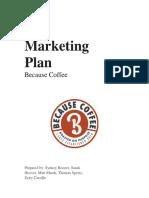 because coffee  marketing plan