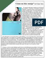 Fragmento - Cómo me hice monja - César Aira