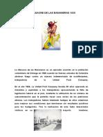 MASACRE DE LAS BANANERAS  Y PRESENTACIONES