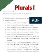 Plurals I