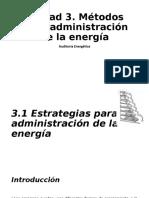 UNIDAD 3. METODOS DE ADMINISTRACION DE LA ENERGIA