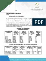 1. OFERTA COMERCIAL GENERAL, escala de precios