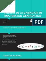 8.- ANALISIS DE LA VARIACION DE UNA FUNCION GRAFICACION
