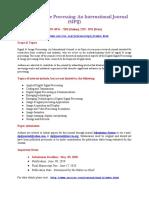 Signal _ Image Processing an International Journal (SIPIJ)