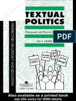 Textual Politics Discourse And Social Dynamics Discourse  Social Dynamics (Critical Perspectives on Literacy and Education) by J. Lemke Profes (z-lib.org)