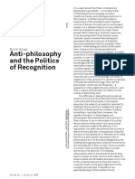 Boris Groys Anti-philosophy and the Politics of Recognition