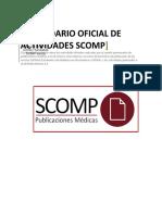 Calendario de Actividades SCOMP 2015-2016
