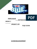 Pepsi Blue Project