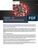 Impacto Del Covid 19 en La Ejecución de Obras Públicas
