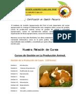 BROCHURE DE NUESTROS CURSOS - INSTITUTO DE GESTIÓN AGROPECUARIA DEL PERÚ - IGAP PERU