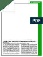 Brea origen, composicion y comportamiento en pirolisis