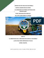 Mecanización agricola sostenible.