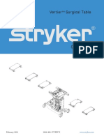 Stryker Vertier Surgical Table - Service manual