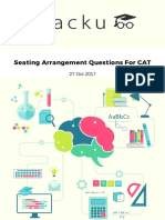 Seating Arrangement Questions for CAT pdf