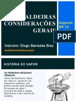Aula 12 - Caldeiras - Considerações Gerais