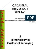 chapter 2- Terminology in Cadastral Surveying