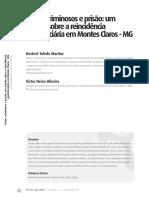 Crime, Criminosos e Prisão Um Estudo Sobre a Reincidência Penitenciária em Montes Claros MG - Herbert Toledo Martins