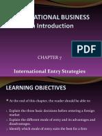 Chp 6 - International Entry Strategies