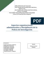 Escuadra 05 Aspectos Organizacionales, Administrativos y Disciplinario de la Policia de investigacion