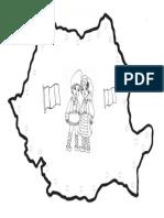 ROMÂNIA Hartă de Colorat