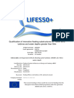 D2.8 Ecpected LCOE for floating wind turbines 10MW+ for 50m+ water depth