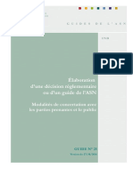 Guide de l'ASN n°25  Elaboration d'une décision réglementaire ou d'un guide de l'ASN