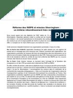Réforme des INSPE et mission Sherringham