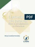 El Principio Pro Persona ante la Ponderacion de Derechos - CNDH