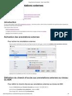 Utilisation d'annotations externes