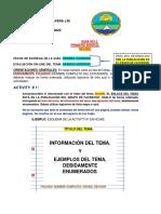 Guía 3 Primero Básico Inglés